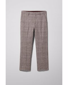 Charlie Check Trousers Beige