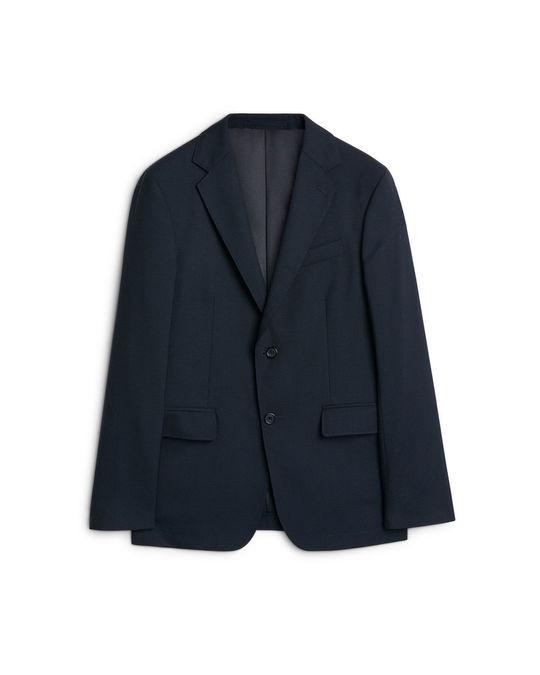Arket Modern Blazer Hopsack Dark Blue