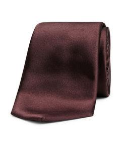 Woven Silk Tie Burgundy