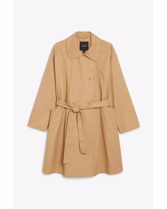 Monki Double breasted trench coat Tanned beige