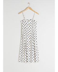 Polka Dot Button Up Midi Dress