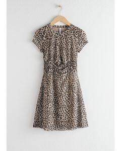 Ruched Leopard T-shirt Dress Leo Print