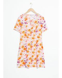 Cutout Floral Mini Dress Floral Print