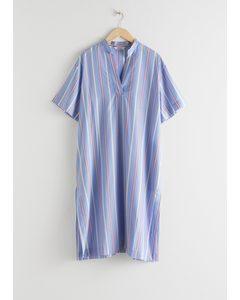 Striped Lyocell Shirt Dress Stripe