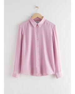 Hemd aus Seidenkrepp Rosa