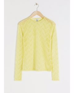 Fitted Lace Top Yellow