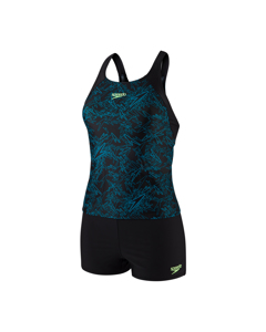 Boom Allover Tankini Af - Black/nordic Teal/bright Zest