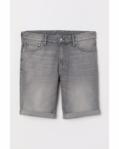 Denimshorts Slim Fit Grau