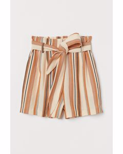 Paper Bag-shorts Orange/randig