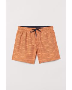 Bedruckte Badeshorts Orange/Gemustert