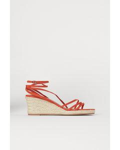 Sandaletter Med Kilklack Rost