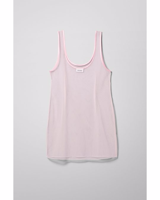 Weekday Lacma Tulle Dress Pink