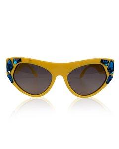 Prada Yellow Plastic Cat-Eye Sunglasses Mod: Crystal Voice