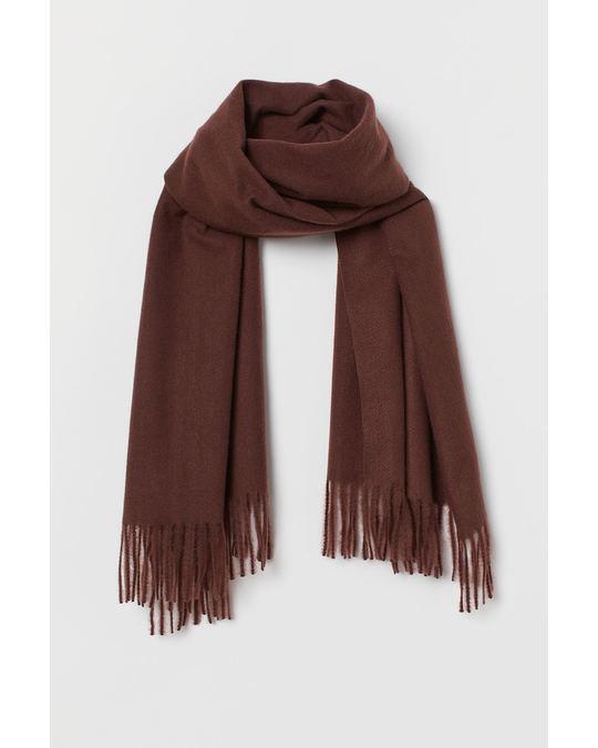 H&M Soft scarf Dark brown