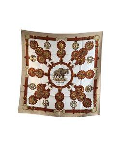 Hermes Vintage Silk Scarf Cuivreries 1963 Francoise De La Perriere