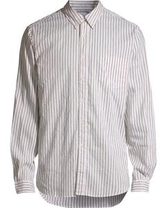Button Shirt Khaki Stripe