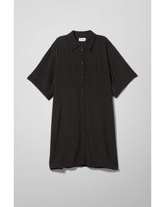 Harmony Shirt Dress Black