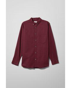 Henning Oxford Shirt Dark Red