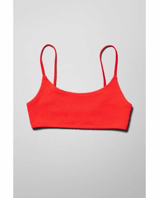 Weekday Sunny Structured Swim Top Red