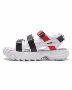 Disruptor Sandal Wmn White / Fila Navy / Fila Red