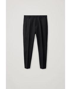 Slim-fit Trousers Black