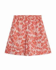 Fluid Twill Shorts Orange/pattern