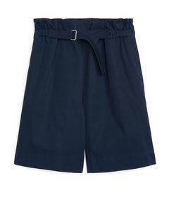 Belted Shorts Dark Blue