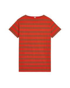 Striped Jersey Dress Orange