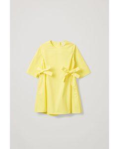 Side Tie Dress Yellow