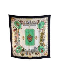 Hermes Vintage Silk Scarf Les Promenades De Paris 1962 Ledoux