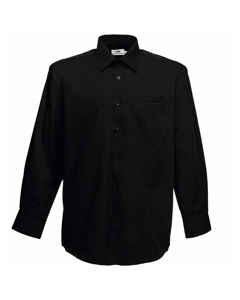 Fruit Of The Loom Mens Long Sleeve Poplin Shirt