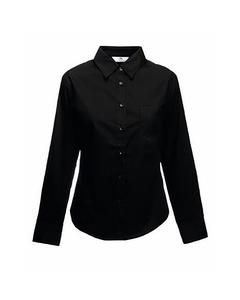 Fruit Of The Loom Ladies Lady-fit Long Sleeve Poplin Shirt