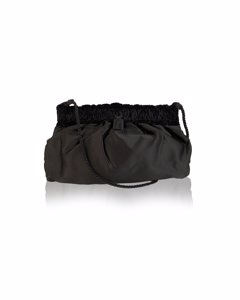 Fendi Vintage Black Satin Clutch Bag Mod: Crossbody Bag