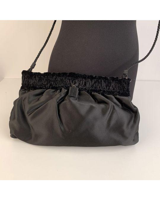 Fendi Fendi Vintage Black Satin Clutch Bag Mod: Crossbody Bag