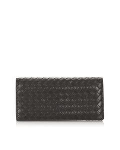 Bottega Veneta Intrecciato Leather Bifold Wallet Black