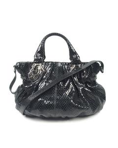 Celine Patent Leather Satchel Black