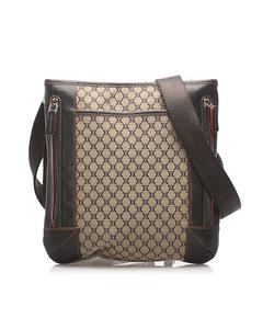Celine Macadam Crossbody Bag Green