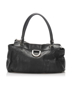 Gucci Guccissima Leather Abbey Shoulder Bag Black