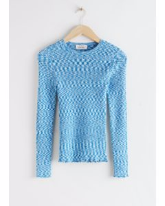 Organic Cotton Lyocell Blend Sweater Light Blue