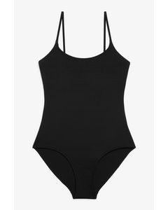 Cross-back Tie Swimsuit Black Magic