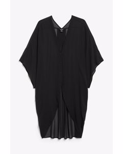 Oversized Beach Blouse Black Magic