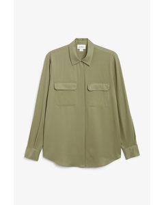 Classic Long Sleeve Shirt Khaki Green