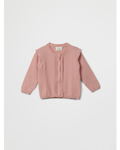 En Fant Knit Cardigan-gots 20-76 Rose Cloud