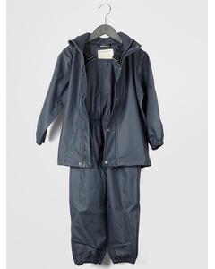 Gate Rainwear Set W/ Suspenders 03-58 Dark Navy