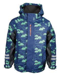 Rain Fleece Jacket Kids Navy/turquoise