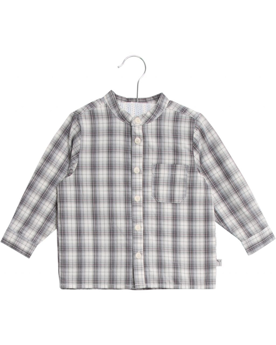 Wheat Shirt Pocket Ls Greyblue