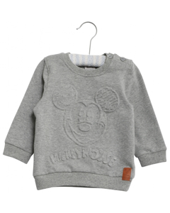Sweatshirt Mickey Embossed Melange Grey