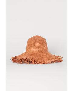 Zonnehoed Van Papierstro Oranje