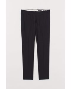 Tuxedo Trousers Skinny Fit Black