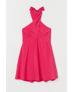 Kurzes Neckholder-Kleid Cerise